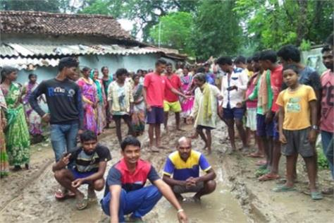 villagers angry due to bad roads
