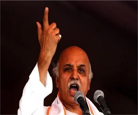 bjp 500 crore built office for himself ramlalla sits in tents togadia