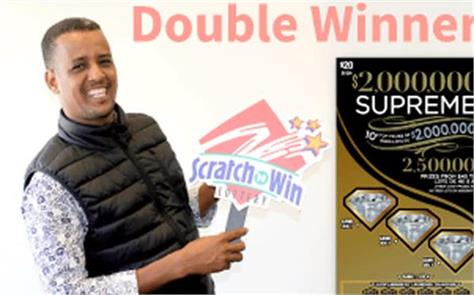 in canada 28 year old immigrant wins lottery  twice