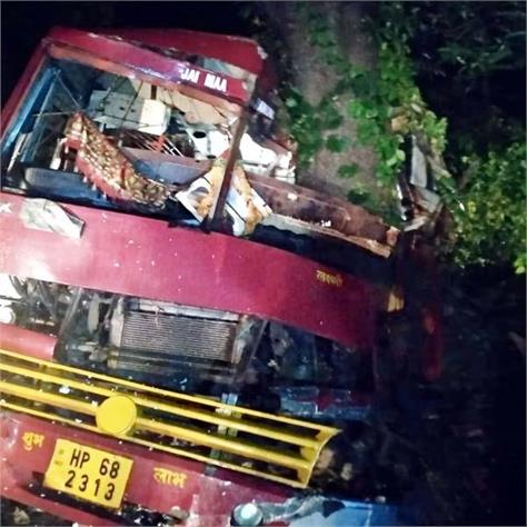 bus collided with tree death of one 17 injured