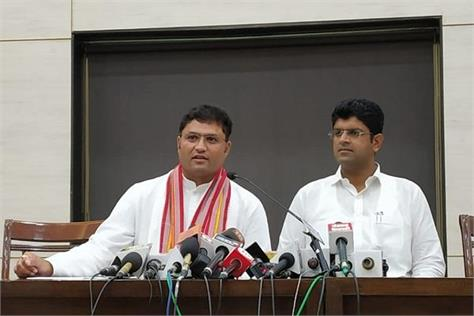 ashok tanwar may support jjp will hold press conference with dushyant chautala