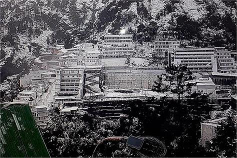weather changed in the valley snow laden vaishno devi peaks
