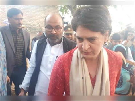 priyanka gandhi arrives to meet the family of rape victim unnao