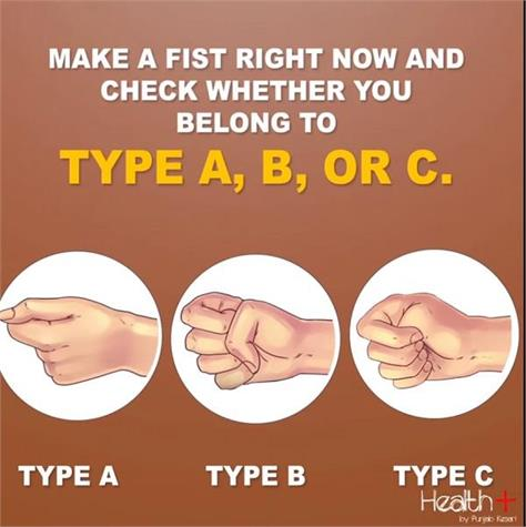 your fist shape reveals your true personality