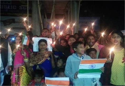 candidates for candle march for martyr soldiers