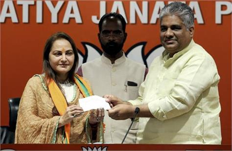 actress jaya prada stays with bjp