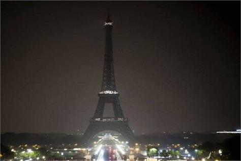 france eiffel mounted on the tower suspicious closed for visitors