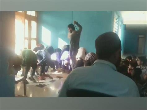 students thrashed for being late to class in doda