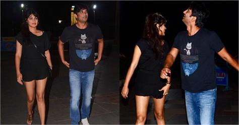 sushant singh rajput night out with rhea chakraborty