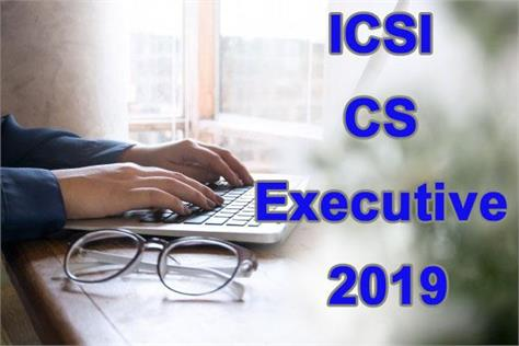 icsi result 2019 cs professional executive result declared