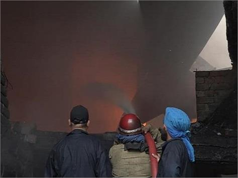 fire at plastic factory