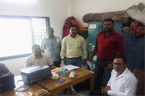 major action lokayukta police caught bribe panchayat secretary