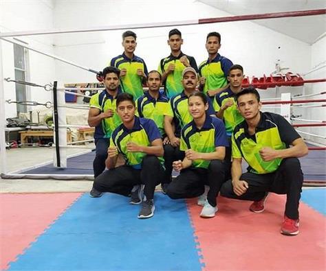 8 member senior boxing team left for bhutan