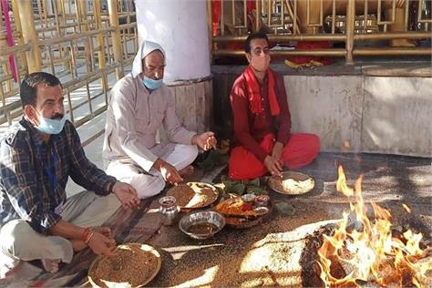 navratri concludes with yagna in naina devi