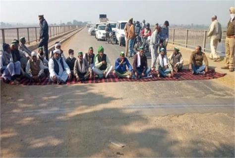 kisan agitation chakka jam in baghpat protest in