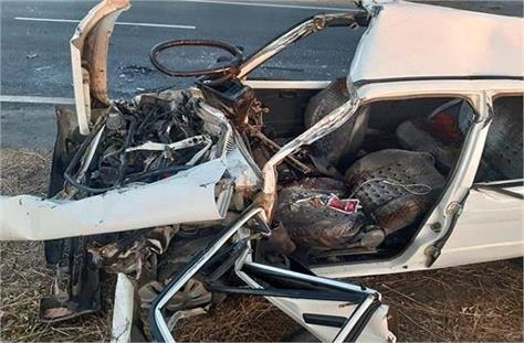 three people from same family died in road accident