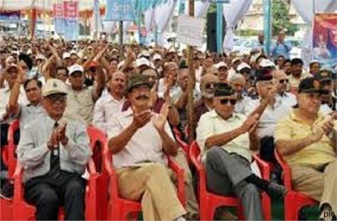 ex servicemen thundering in sujanpur on 28 november