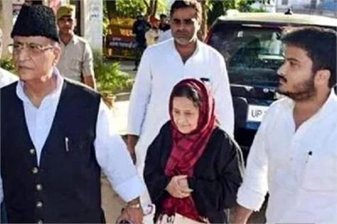sp mp azam khan wife tanzin and son abdullah