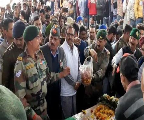 martyr killed in kashmir while protecting the country