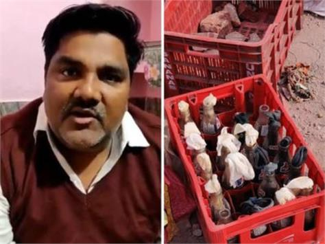 delhi violence stones petrol bombs found from house of tahir hussain