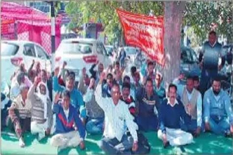 employees staged a protest when demands were not met