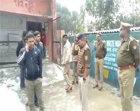 ambedkarnagar police station hanged in jaitpur police station created chaos