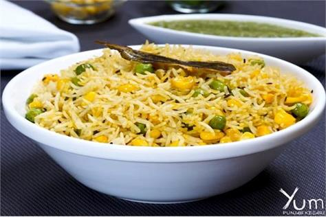 try corn pulao in sunday special