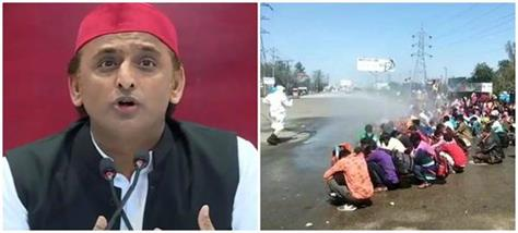 akhilesh targeted the workers by attacking yogi government