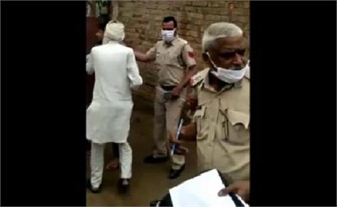 people violating section 144 attacked on police