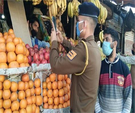 police raid in vegetable and fruit shops