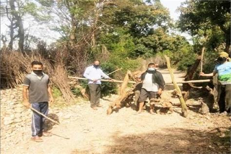 corona s awe villagers become watchmen for their village