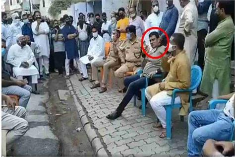 kanpur sp mla in police custody for meeting in hotspot area