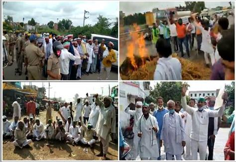 farmers jammed the entire country in protest against farmers bill ordinance