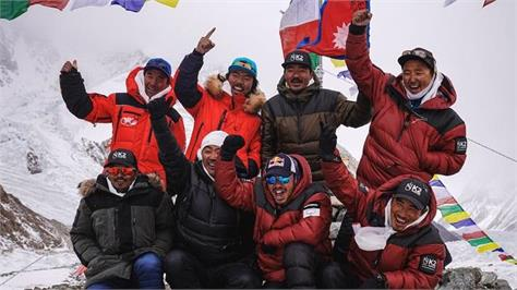 nepali mountaineers achieve historic winter first on k2
