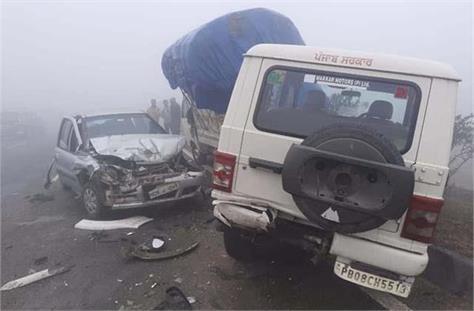terrible road accident on jalandhar ludhiana highway