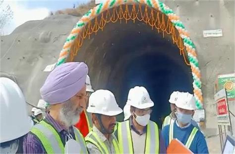 inauguration of tunnel no 6 of bhanupalli bilasupar railway line