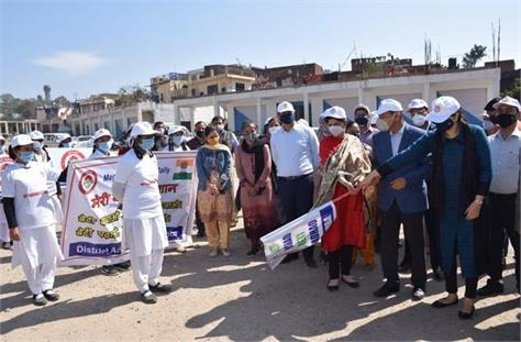 district administration samba took out awareness rally