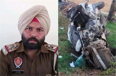 sub inspector died in horrific road accident car flew over