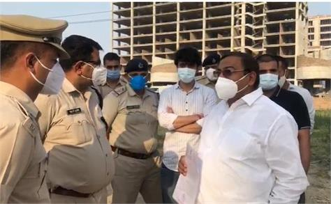 khori gaon case aap mp sushil gupta detained during flag march