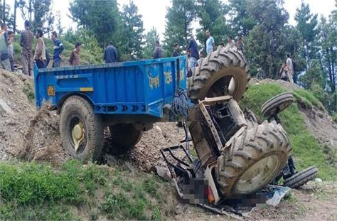 death of one in tractor accident