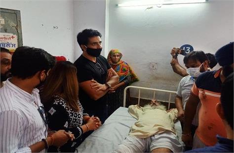 big news sonu sood reached the hospital