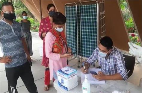vaccine camp organized at sukhna lake