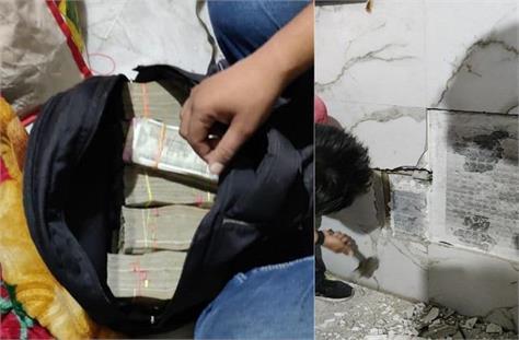 hawala traders had hidden 70 lakh rupees in the wall