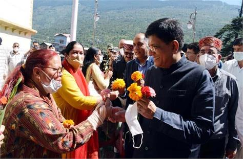union minister piyush goyal in kullu