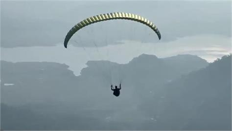 second trial of paragliding completed in kutlahar